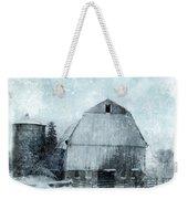 Old Barn In Winter Snow Weekender Tote Bag