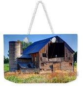 Old Barn With Concrete Grain Silo - Utah Weekender Tote Bag
