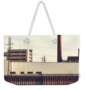 Old Bergstom Smokestack Weekender Tote Bag