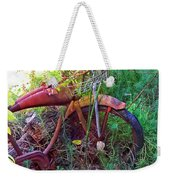 Old Bike And Weeds Weekender Tote Bag