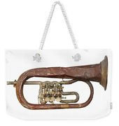 Old Broken Trumpet - Isolated Weekender Tote Bag