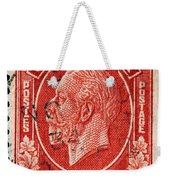 old Canadian postage stamp Weekender Tote Bag
