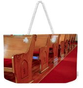 Old Church Pews Weekender Tote Bag by LeeAnn McLaneGoetz McLaneGoetzStudioLLCcom