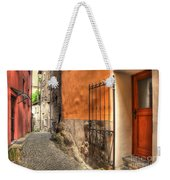 Old Colorful Rustic Alley Weekender Tote Bag