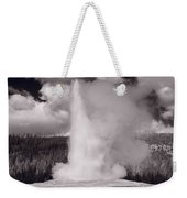 Old Faithful Yellowstone Bw Weekender Tote Bag
