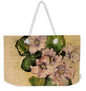 Old-fashioned African Violets Weekender Tote Bag