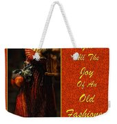 Old Fashioned Santa Christmas Card Weekender Tote Bag by Lois Bryan