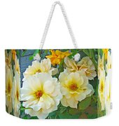 Old Fashioned Yellow Rose - Mirror Box Weekender Tote Bag