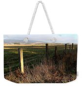 Old Fence And Landscape At Point Reyes California . 7d9968 Weekender Tote Bag
