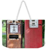 Old Gas Station Pumps Weekender Tote Bag