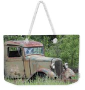 Abandoned Truck In Field Weekender Tote Bag