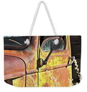 Old Green Truck Door Weekender Tote Bag