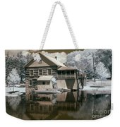 Old Grist Mill In Infrared Weekender Tote Bag