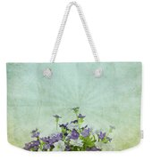 Old Grunge Paper Flowers Pattern Weekender Tote Bag