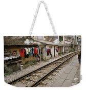 Old Hanoi By The Tracks Weekender Tote Bag