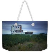 Old Houseboat On A Minnesota Shore On Lake Superior Weekender Tote Bag