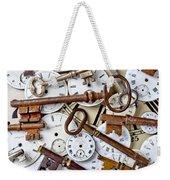 Old Keys And Watch Dails Weekender Tote Bag