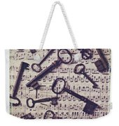 Old Keys On Sheet Music Weekender Tote Bag