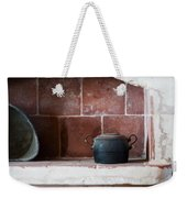 old kitchen - A part of a traditional kitchen with a vintage metal pot  Weekender Tote Bag