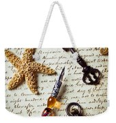 Old Letter With Pen And Starfish Weekender Tote Bag