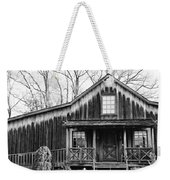 Old Log House Weekender Tote Bag