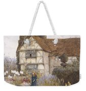 Old Manor House Weekender Tote Bag by Helen Allingham