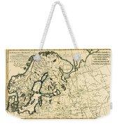 Old Map Of Northern Europe Weekender Tote Bag