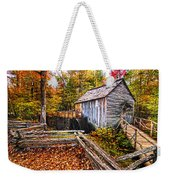 old mill Smoky Mountains Weekender Tote Bag