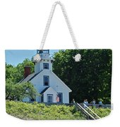 Old Mission Point Lighthouse 5306 Weekender Tote Bag by Michael Peychich