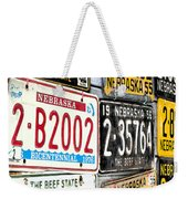Old Nebraska Plates Weekender Tote Bag