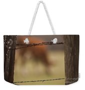 Old Post Fence Weekender Tote Bag