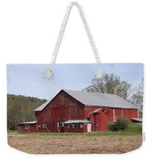 Old Red Barn With Short Silo Weekender Tote Bag