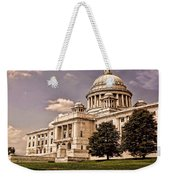 Old Rhode Island State House Weekender Tote Bag by Lourry Legarde