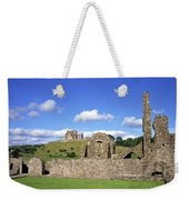 Old Ruins Of An Abbey With A Castle In Weekender Tote Bag