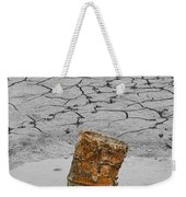 Old Rusted Barrel Abstract Weekender Tote Bag