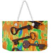 Old Rusty Keys Weekender Tote Bag
