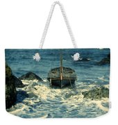 Old Sailing Vessel Near The Rocky Shore Weekender Tote Bag