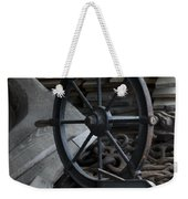 Old Ships Wheel, Chains And Wood Planks Weekender Tote Bag