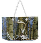 Old Skull And Antlers Weekender Tote Bag