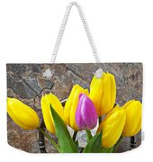 Old Tea Pot And Tulips Weekender Tote Bag