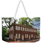Old Town Philadelphia Brownstone House Weekender Tote Bag