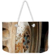 Old Tractor Wheel Weekender Tote Bag