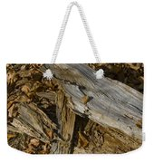Old Tree Trunks And Leaves Decaying Weekender Tote Bag