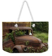 Old Truck In Rain Forest  Weekender Tote Bag