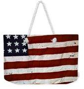 Old Usa Flag Weekender Tote Bag by Carlos Caetano