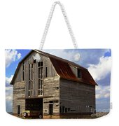 Old Wagon Older Barn Different View Weekender Tote Bag