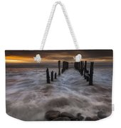 Old Wharf At Sunrise Saint Clair Beach Weekender Tote Bag