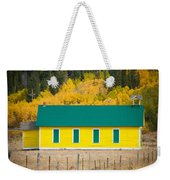 Old Yellow School House With Autumn Colors Weekender Tote Bag