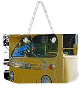 Old Yellow Transit Bus Abstract Weekender Tote Bag