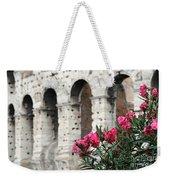 Oleander And Colosseum Weekender Tote Bag